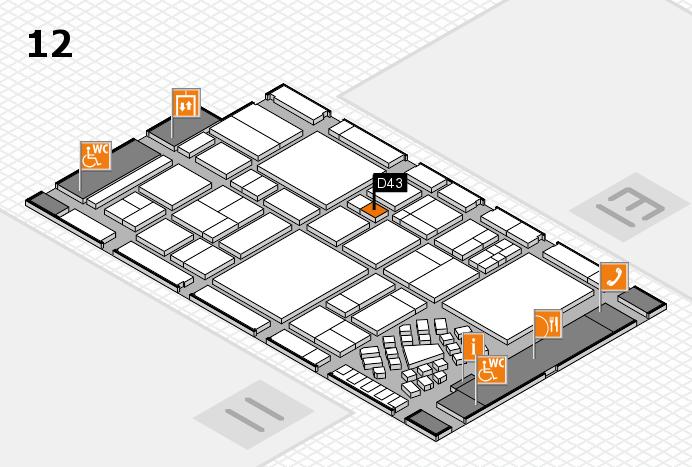 EuroShop 2017 hall map (Hall 12): stand D43
