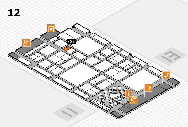 EuroShop 2017 hall map (Hall 12): stand C65