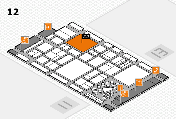 EuroShop 2017 hall map (Hall 12): stand D53