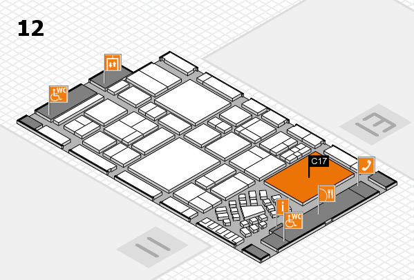 EuroShop 2017 hall map (Hall 12): stand C17