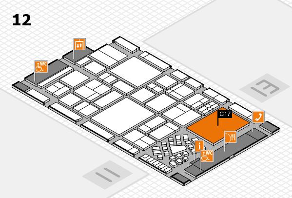 EuroShop 2017 hall map (Hall 12): stand C17