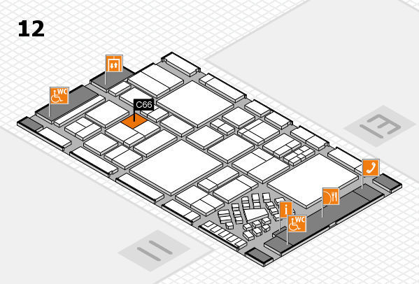 EuroShop 2017 hall map (Hall 12): stand C66