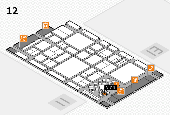 EuroShop 2017 hall map (Hall 12): stand A17-9