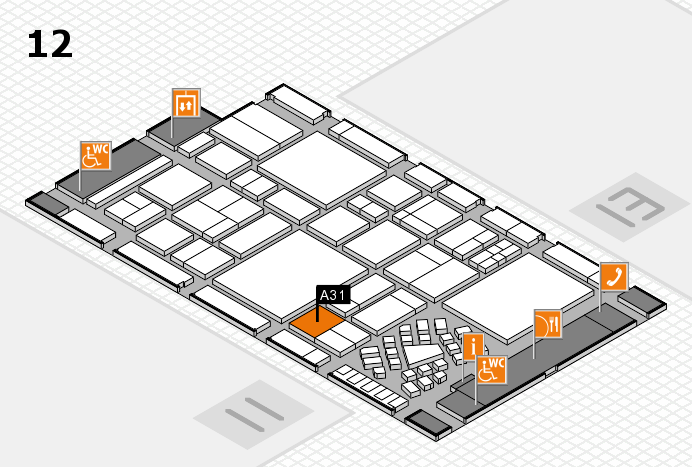 EuroShop 2017 hall map (Hall 12): stand A31