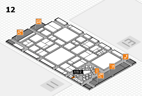 EuroShop 2017 hall map (Hall 12): stand A18-2