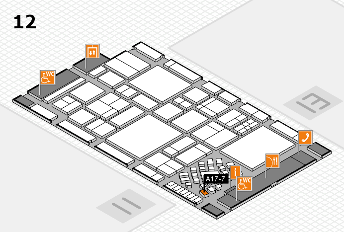 EuroShop 2017 hall map (Hall 12): stand A17-7