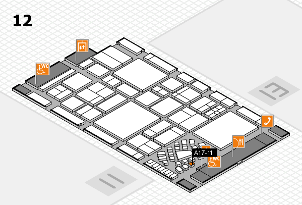EuroShop 2017 hall map (Hall 12): stand A17-11