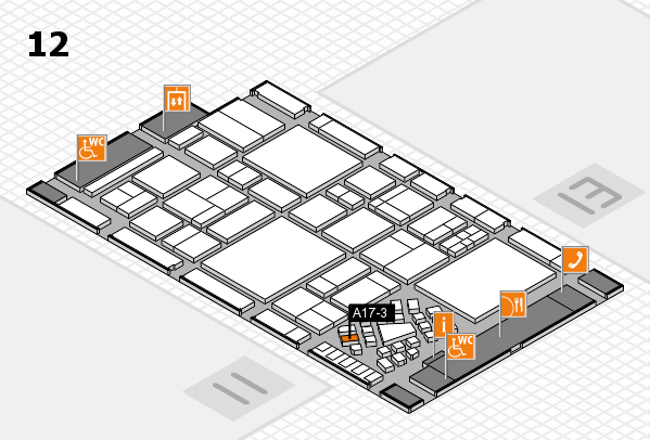 EuroShop 2017 hall map (Hall 12): stand A17-3