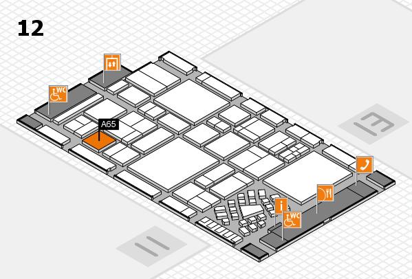 EuroShop 2017 hall map (Hall 12): stand A65