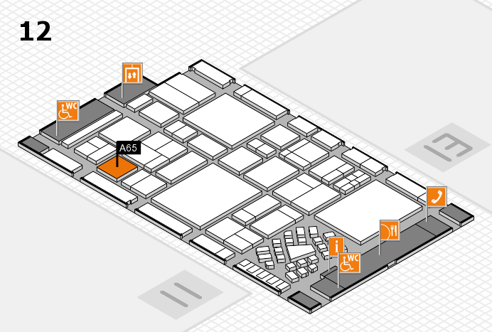 EuroShop 2017 hall map (Hall 12): stand A65