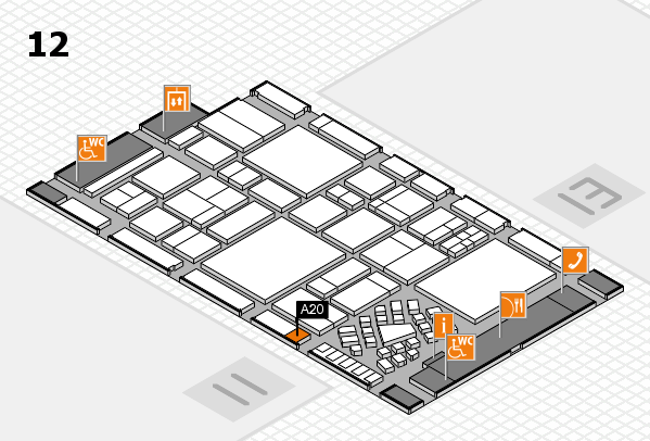 EuroShop 2017 hall map (Hall 12): stand A20