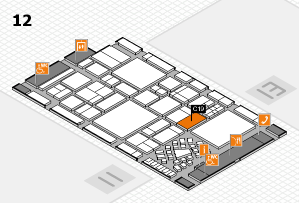 EuroShop 2017 hall map (Hall 12): stand C19