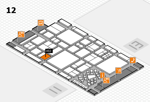 EuroShop 2017 hall map (Hall 12): stand A53