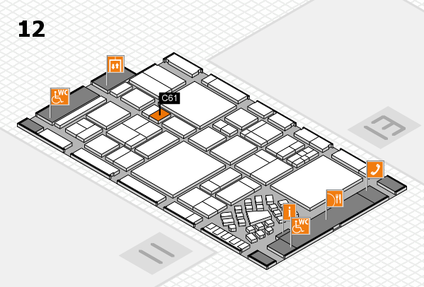 EuroShop 2017 hall map (Hall 12): stand C61