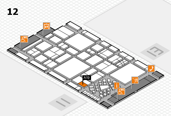 EuroShop 2017 hall map (Hall 12): stand A19
