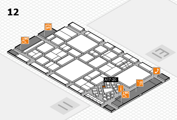 EuroShop 2017 hall map (Hall 12): stand A17-20