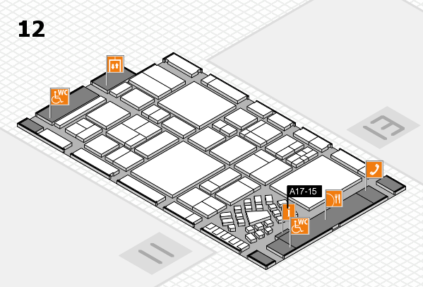 EuroShop 2017 hall map (Hall 12): stand A17-15
