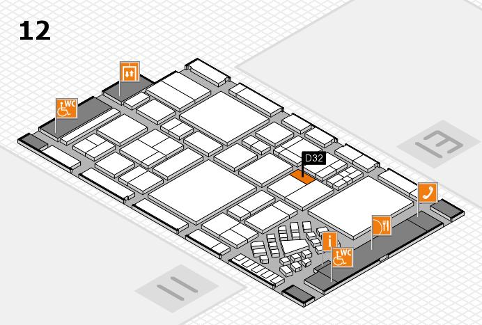 EuroShop 2017 Hallenplan (Halle 12): Stand D32