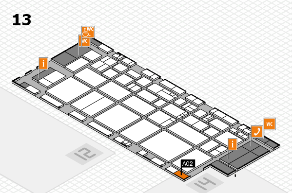 EuroShop 2017 hall map (Hall 13): stand A02