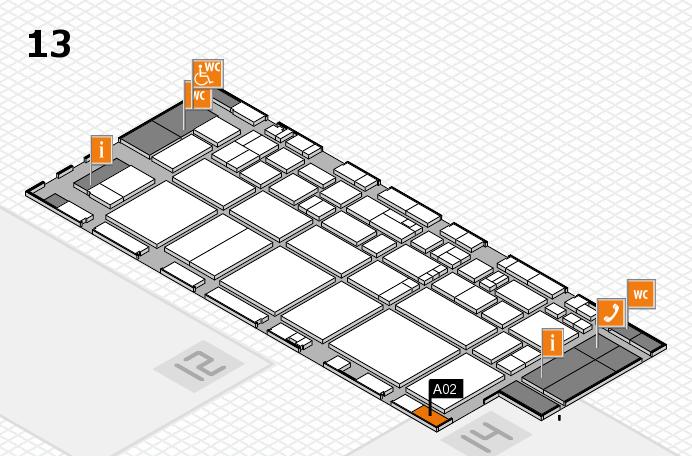 EuroShop 2017 hall map (Hall 13): stand A02