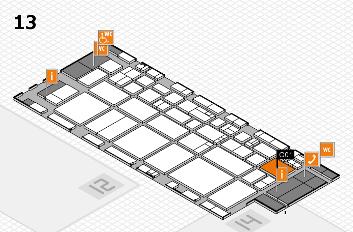EuroShop 2017 hall map (Hall 13): stand C01