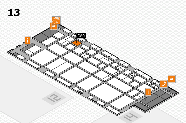 EuroShop 2017 hall map (Hall 13): stand D80