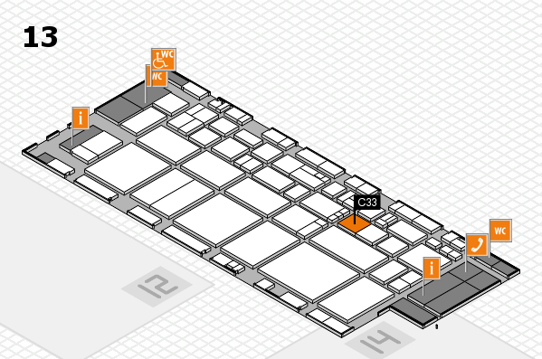 EuroShop 2017 hall map (Hall 13): stand C33