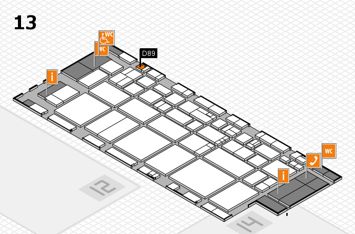 EuroShop 2017 hall map (Hall 13): stand D89