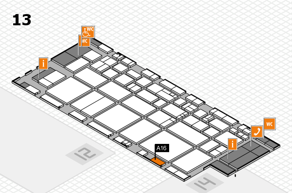 EuroShop 2017 hall map (Hall 13): stand A16
