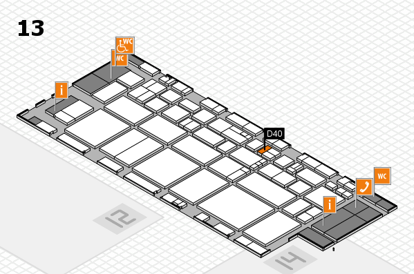 EuroShop 2017 hall map (Hall 13): stand D40