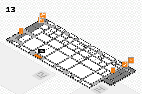 EuroShop 2017 hall map (Hall 13): stand A66