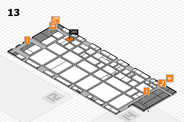 EuroShop 2017 hall map (Hall 13): stand D86