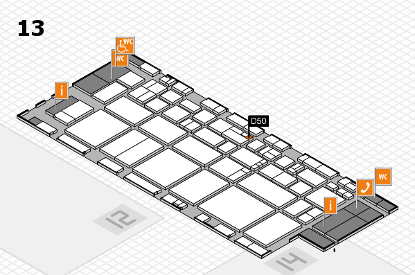 EuroShop 2017 hall map (Hall 13): stand D50