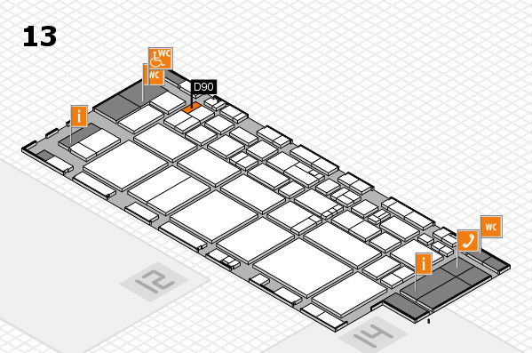 EuroShop 2017 hall map (Hall 13): stand D90