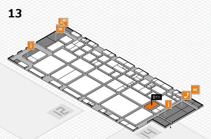 EuroShop 2017 hall map (Hall 13): stand B11