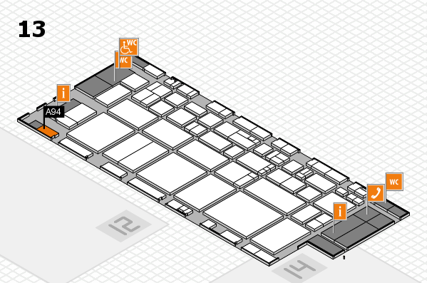 EuroShop 2017 hall map (Hall 13): stand A94