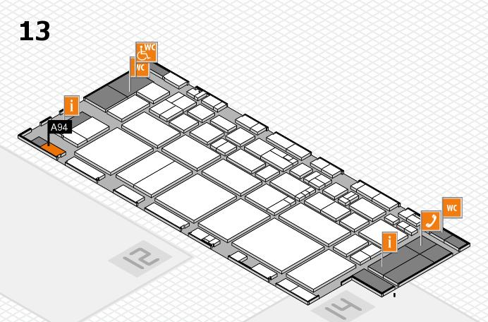 EuroShop 2017 hall map (Hall 13): stand A94