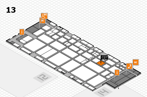 EuroShop 2017 hall map (Hall 13): stand C27