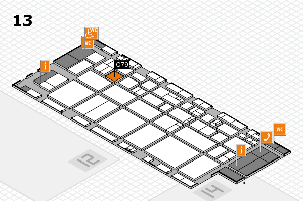 EuroShop 2017 hall map (Hall 13): stand C79