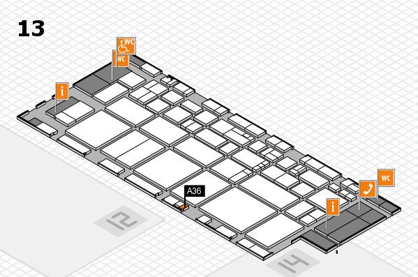 EuroShop 2017 hall map (Hall 13): stand A36