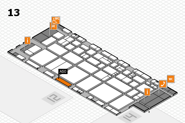 EuroShop 2017 hall map (Hall 13): stand A50