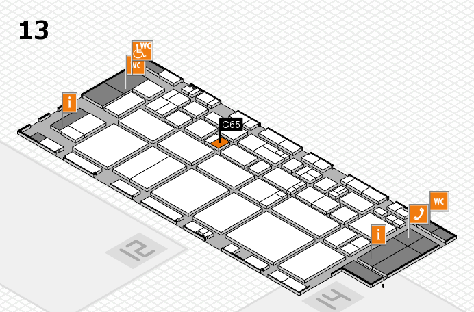 EuroShop 2017 hall map (Hall 13): stand C65