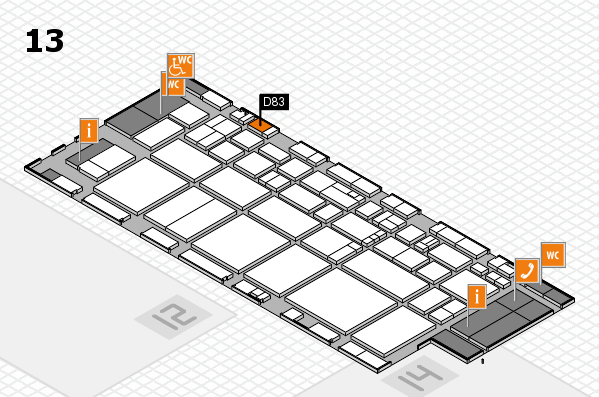 EuroShop 2017 hall map (Hall 13): stand D83
