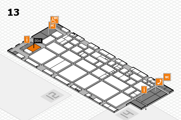EuroShop 2017 hall map (Hall 13): stand B94