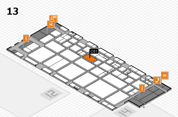 EuroShop 2017 hall map (Hall 13): stand C61