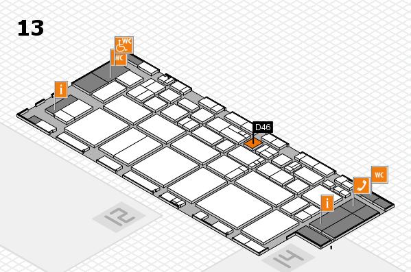 EuroShop 2017 hall map (Hall 13): stand D46