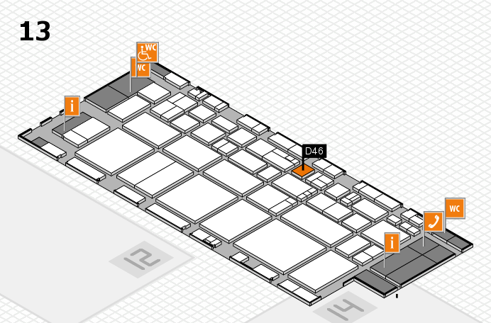 EuroShop 2017 hall map (Hall 13): stand D46