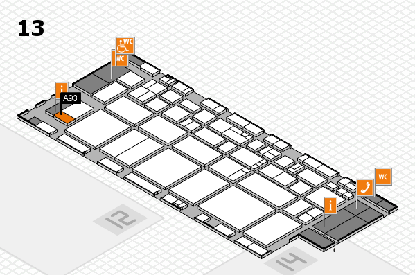 EuroShop 2017 hall map (Hall 13): stand A93