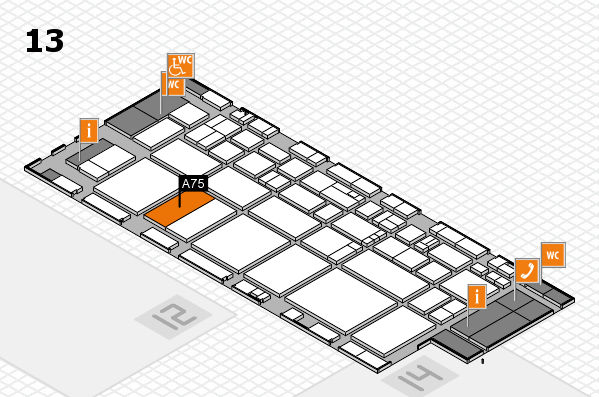 EuroShop 2017 hall map (Hall 13): stand A75
