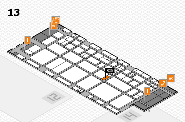 EuroShop 2017 hall map (Hall 13): stand B35